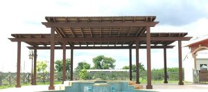 Season changes can be enjoyed with pergolas
